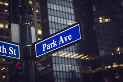 Patk ave sign Stock Image