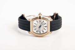 patka czarny złocisty zegarek zdjęcie royalty free