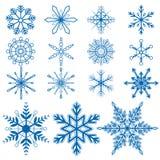 Płatka śniegu set1 wektory Fotografia Stock