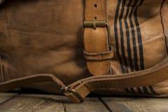 Patka Przymocowywająca metal klamra Rzemienna torba obrazy royalty free