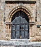 Patmos castle doorway Royalty Free Stock Photography