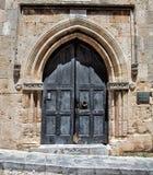 Patmos castle doorway. The Patmos island castle doorway, medieval Royalty Free Stock Photography