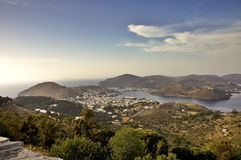 Patmos harbour view Stock Images