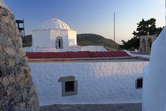 Patmos houses Stock Photography
