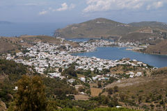 Patmos island in Greece. Royalty Free Stock Images