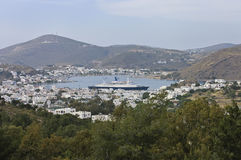 Patmos island scenic view Royalty Free Stock Photos