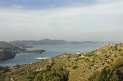 Patmos island scenic view Royalty Free Stock Image