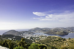 Patmos island scenic view Stock Images