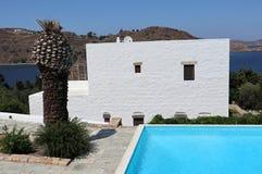 Patmos La migliore destinazione di Mediterranian fotografie stock libere da diritti
