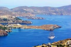 Patmos-Landschaft Stockbilder