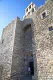 Patmos monastery of st John stock images