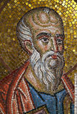 Patmos,  Mosaic portrait of Saint John Stock Photos