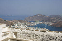 Patmos, view from Monastery royalty free stock photo