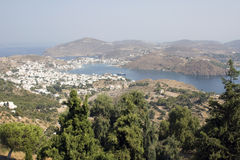Patmos, a wonderful view from Chora Royalty Free Stock Photography