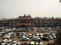 PATNA JUNCTION,PATNA,INDIA. THIS PICTURE IS TAKEN AT MORNING IN WINTER stock photo