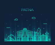 Patna skyline silhouette vector linear style Stock Images