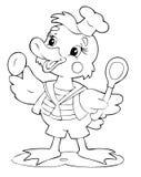 Pato ilustración del vector