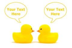 Pato amarelo Fotografia de Stock