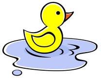 Pato amarillo Imagen de archivo libre de regalías