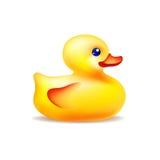 Pato amarillo del baño del vector ilustración del vector