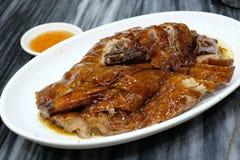 Pato asado con la salsa Foto de archivo libre de regalías