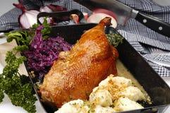 Pato cocido al horno Fotografía de archivo