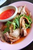 Pato com molho vermelho fotografia de stock