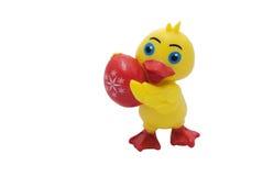 Pato con el huevo del éster Imagenes de archivo