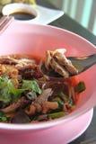 Pato da sopa com molho vermelho imagens de stock