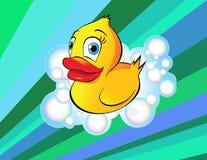 Pato de borracha ilustração stock