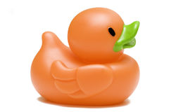 Pato de borracha do brinquedo isolado no fundo branco Imagens de Stock
