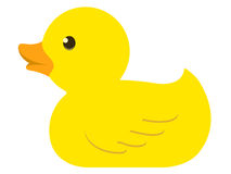 Pato de borracha isolado Foto de Stock Royalty Free
