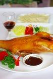 Pato de carne asada de Pekín Fotos de archivo libres de regalías