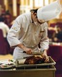 Pato de carne asada de Pekín en un restaurante de Pekín Foto de archivo libre de regalías