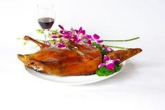 Pato de carne asada de Pekín Fotografía de archivo
