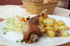 Pato de carne asada en la ciudad de China Imagen de archivo