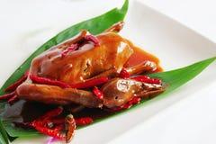 Pato de carne asada en la ciudad de China Fotografía de archivo libre de regalías