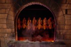 Pato de carne asada que cocina el restaurante Pekín China de Dadong Imágenes de archivo libres de regalías