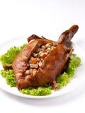 Pato de carne asada relleno Fotografía de archivo