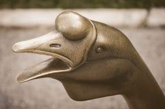 Pato de cobre amarillo Imagenes de archivo