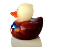 Pato de goma patriótico Fotografía de archivo libre de regalías
