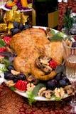 Pato de la Navidad en el vector del día de fiesta Foto de archivo libre de regalías