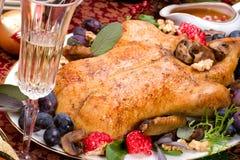 Pato de la Navidad en el vector del día de fiesta Imagen de archivo libre de regalías