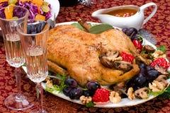 Pato de la Navidad en el vector del día de fiesta Imagen de archivo