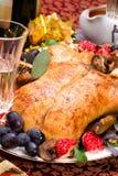 Pato de la Navidad en el vector del día de fiesta Imagenes de archivo