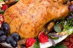 Pato de la Navidad en el vector del día de fiesta Fotos de archivo libres de regalías