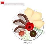 Pato de Pekín, Duck Dish From Beijing famoso stock de ilustración