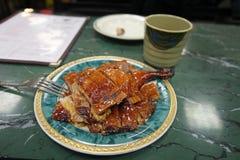 Pato de Pekín en el café de la ciudad de China, NYC, los E.E.U.U. Fotografía de archivo