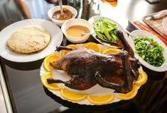 Pato de Peking friável com panquecas Fotografia de Stock