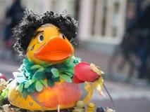 Pato del Afro en Amsterdam Foto de archivo libre de regalías